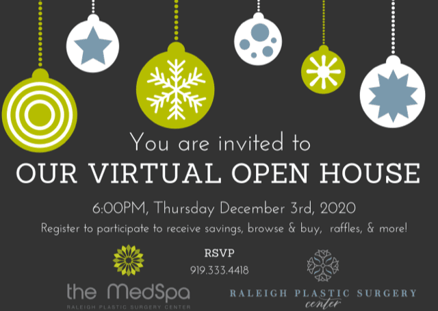 The MedSpa Raleigh - virtual open house card 2020